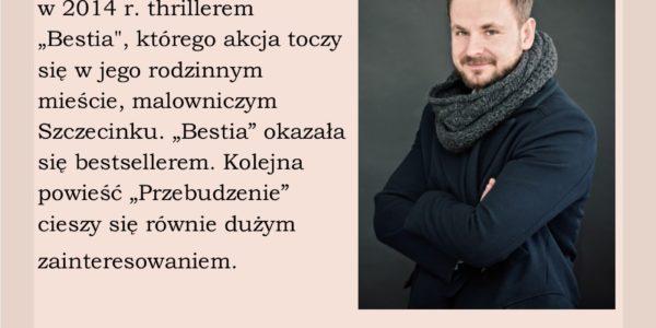 Zaproszenie na wieczór autorski z Piotrem Rozmusem